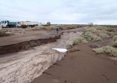 Obras de reparacion y protección de erosiones en gasoductos tgn